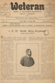 Weteran : organ c.k. weteranów wojskowych Galicyi i Bukowiny. 1901, nr4