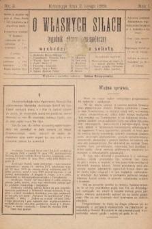 O Własnych Siłach : tygodnik ekonomiczno-społeczny. 1889, nr2