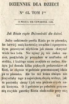 Dziennik dla Dzieci. 1830, nr63