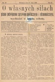 O Własnych Siłach : tygodnik ekonomiczno-społeczny. 1890, nr20