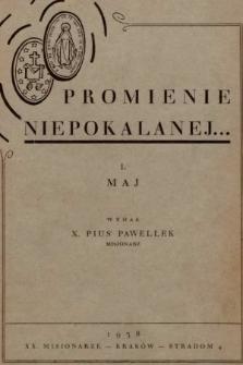 Promienie Niepokalanej. 1938, nr1