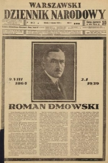 Warszawski Dziennik Narodowy. 1939, nr3 B