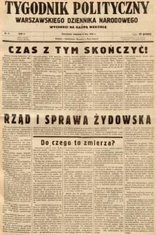 Tygodnik Polityczny Warszawskiego Dziennika Narodowego : wychodzi na każdą niedzielę. 1938, nr6
