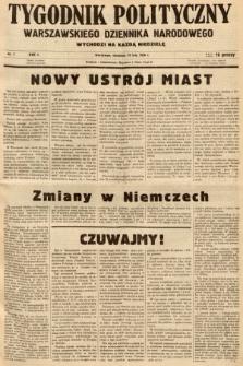 Tygodnik Polityczny Warszawskiego Dziennika Narodowego : wychodzi na każdą niedzielę. 1938, nr7