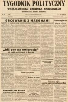 Tygodnik Polityczny Warszawskiego Dziennika Narodowego : wychodzi na każdą niedzielę. 1938, nr45