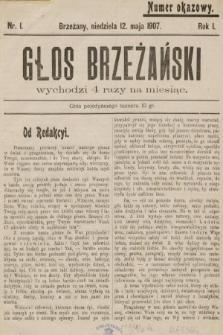 Głos Brzeżański. 1907, nr1
