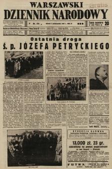 Warszawski Dziennik Narodowy. 1937, nr 274 B