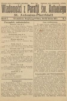 Wiadomości z Parafji Św. Antoniego = St. Antonius-Pfarrblatt. 1934, nr4