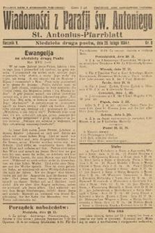 Wiadomości z Parafji Św. Antoniego = St. Antonius-Pfarrblatt. 1934, nr8