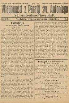 Wiadomości z Parafji Św. Antoniego = St. Antonius-Pfarrblatt. 1934, nr9