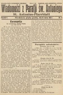 Wiadomości z Parafji Św. Antoniego = St. Antonius-Pfarrblatt. 1934, nr11