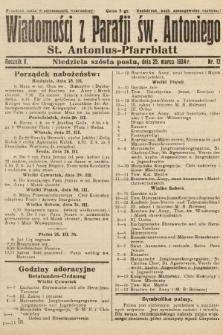 Wiadomości z Parafji Św. Antoniego = St. Antonius-Pfarrblatt. 1934, nr12
