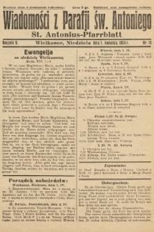 Wiadomości z Parafji Św. Antoniego = St. Antonius-Pfarrblatt. 1934, nr13