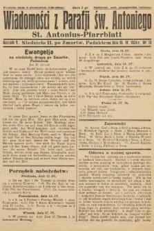 Wiadomości z Parafji Św. Antoniego = St. Antonius-Pfarrblatt. 1934, nr15
