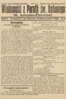 Wiadomości z Parafji Św. Antoniego = St. Antonius-Pfarrblatt. 1934, nr18