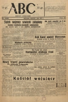 ABC : nowiny codzienne. 1937, nr205