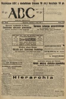 ABC : nowiny codzienne. 1937, nr216 [ocenzurowany]
