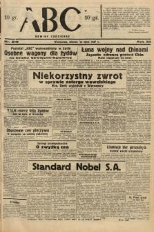 ABC : nowiny codzienne. 1937, nr218