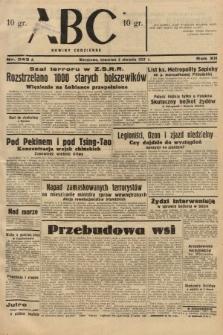 ABC : nowiny codzienne. 1937, nr243 A