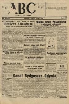 ABC : nowiny codzienne. 1937, nr249 A