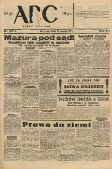 ABC : nowiny codzienne. 1937, nr271 A