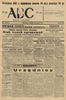 ABC : nowiny codzienne. 1937, nr274 A