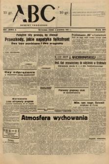 ABC : nowiny codzienne. 1937, nr280 A
