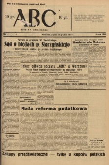 ABC : nowiny codzienne. 1937, nr[391] A [ocenzurowany]