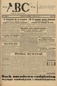 ABC : nowiny codzienne. 1937, nr394 A