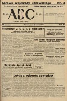 ABC : nowiny codzienne. 1937, nr[399] A [ocenzurowany]