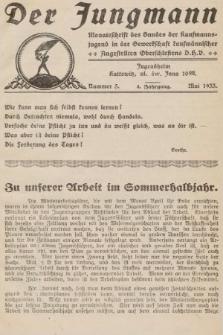Der Jungmann : Monatschrift des Bundes der Kaufmanns-jugend in der Gewerkschaft Oberschlesiens D.H.V. 1933, nr5