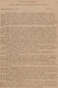 Biuletyn Informacyjny Związku Zawodowego Literatów Polskich w Krakowie. 1947, nr3 i 4