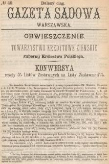 Gazeta Sądowa Warszawska. 1893, nr 42