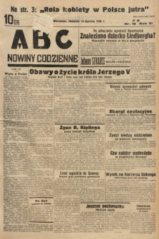 ABC : nowiny codzienne. 1936, nr19