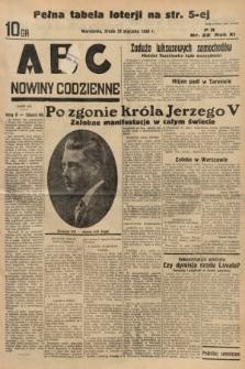 ABC : nowiny codzienne. 1936, nr22