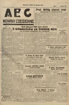 ABC : nowiny codzienne. 1936, nr25 [ocenzurowany]