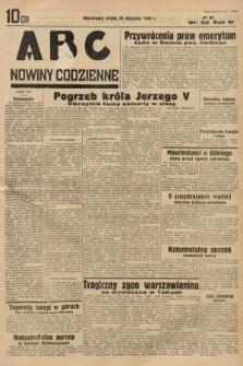 ABC : nowiny codzienne. 1936, nr30