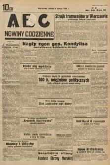 ABC : nowiny codzienne. 1936, nr33