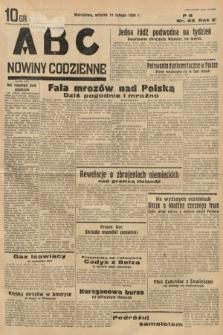 ABC : nowiny codzienne. 1936, nr43