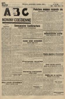 ABC : nowiny codzienne. 1936, nr102