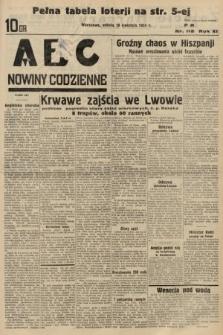ABC : nowiny codzienne. 1936, nr112