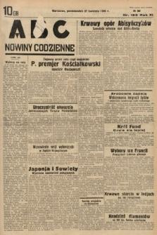 ABC : nowiny codzienne. 1936, nr123