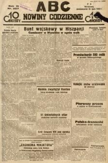 ABC : nowiny codzienne. 1936, nr207