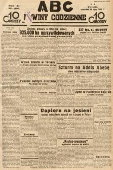 ABC : nowiny codzienne. 1936, nr210