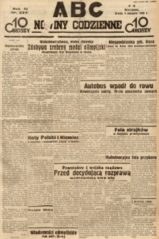 ABC : nowiny codzienne. 1936, nr223