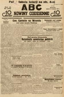 ABC : nowiny codzienne. 1936, nr235