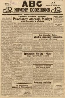 ABC : nowiny codzienne. 1936, nr241