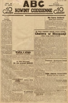 ABC : nowiny codzienne. 1936, nr243 [ocenzurowany]