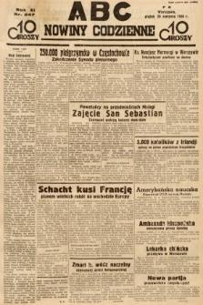 ABC : nowiny codzienne. 1936, nr247