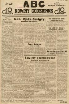 ABC : nowiny codzienne. 1936, nr250